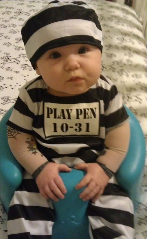 Baby In Jail Play Pen Halloween Costume Funny Faxo