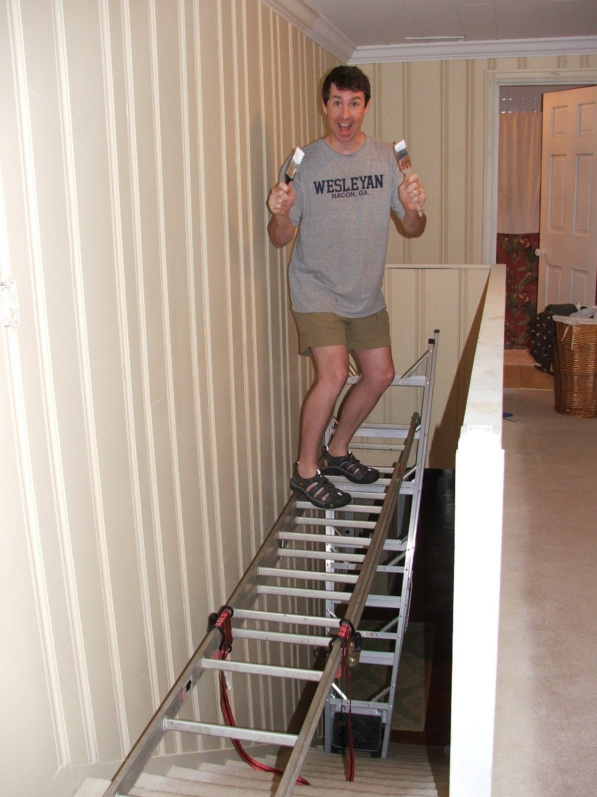Perry Scaffolding On Stairs : They said i couldn t paint the ceiling above my staircase