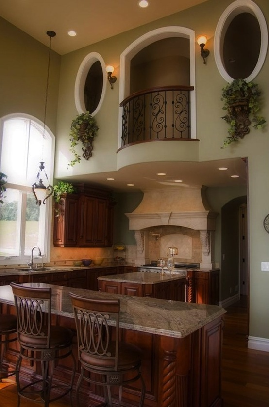Opera house balcony over kitchen for Kitchen balcony ideas