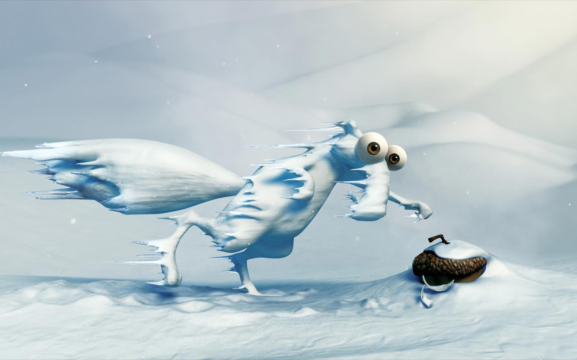 зима, пробки, ледниковый период, машины, фэнтези  № 1653888  скачать