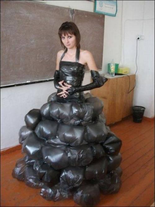 trashy garbage bag dress