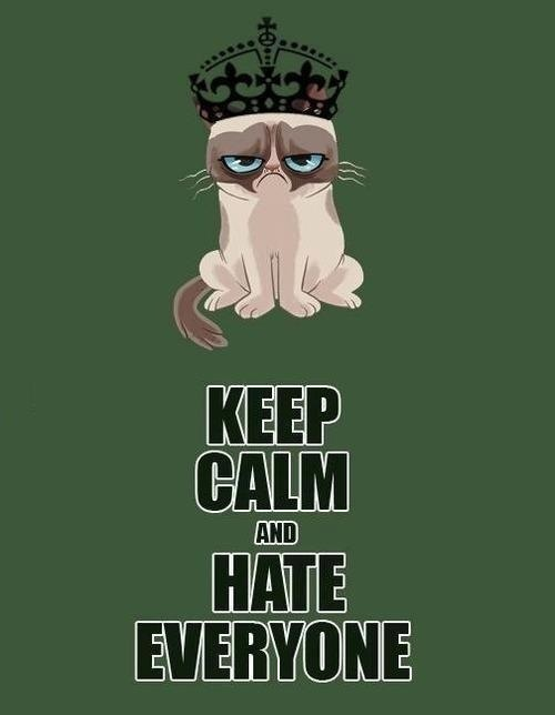 King and queen grumpy cat keep calm and hate everyone 5 out of 5