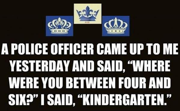 "Police Officer ""KINDERGARTEN"""