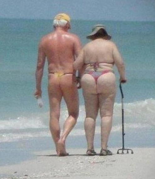 String bikinis for seniors