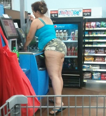 almost naked at walmart