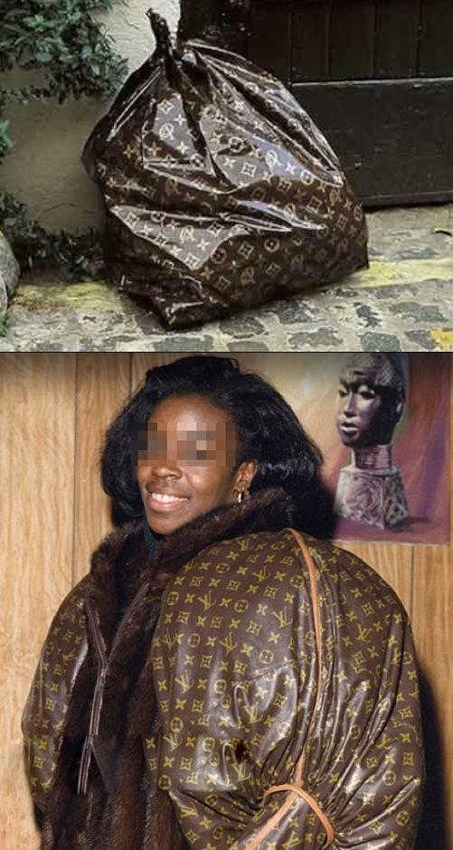 louis vuitton coat or trash bag no way girl nailed it garbage