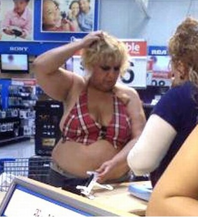 plaid bikini top at walmart no way girl fashion fail