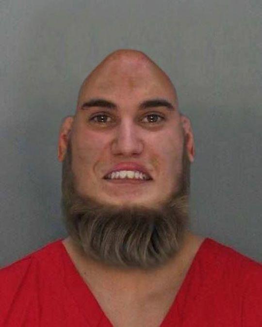 justin bieber bald and beard mug shot   hair photoshop