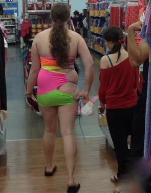 neon green and hot pink ripped up drawstring bag shorts at