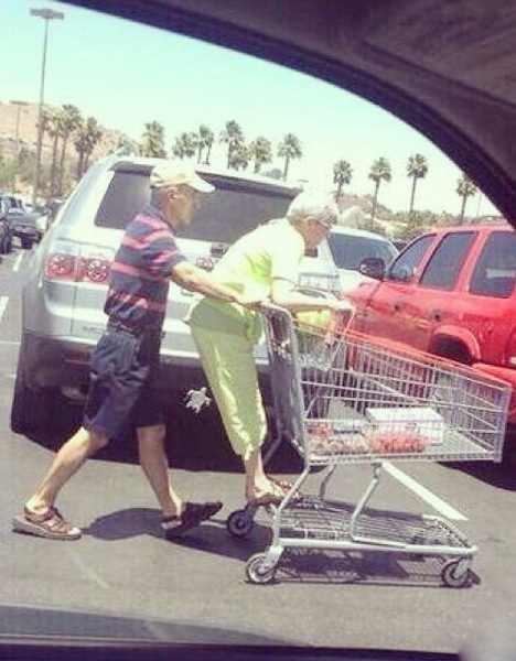Look at this couple they were probably married 50 years and now this