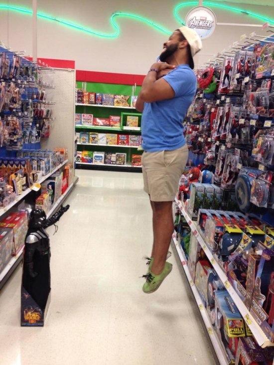 Star Wars Toys Walmart : Star wars darth vader choking people of walmart funny