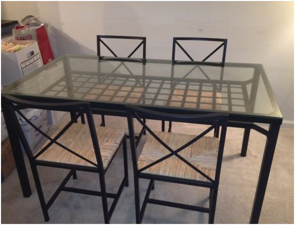 moving to ny sale beautiful glass dining room table and 4