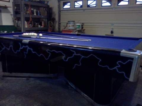 Pool Table Includes 8 And 9 Ball Racks 2 Pool Cues Custom Balls And