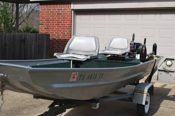 Custom 14 foot monark jonboat with 2000 johnson 15 hp and for Monark fishing boats