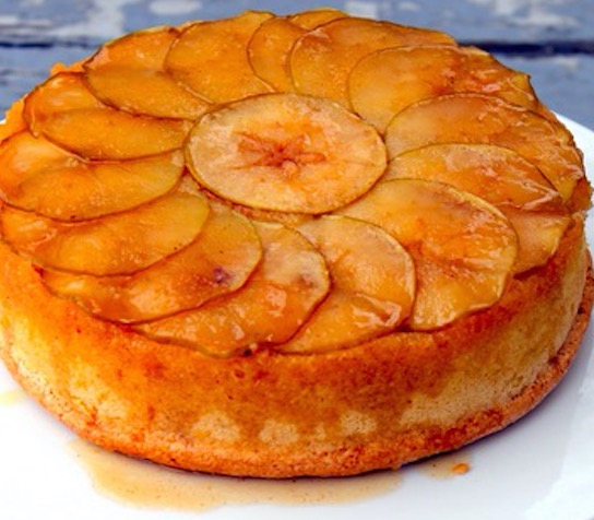 ... upside down cake but how about apple upside down cake it s a delicious