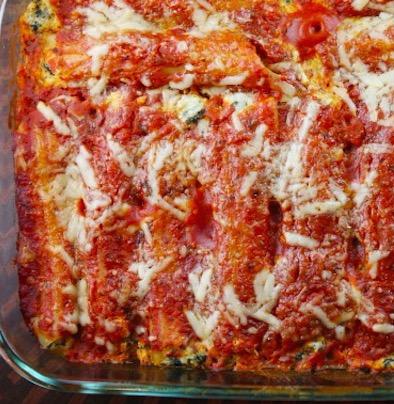 Spinach and Cheese Stuffed Manicotti - Recipe