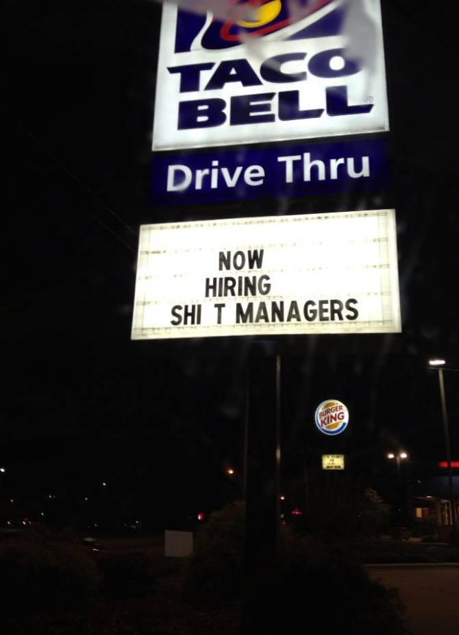 Taco Bell Now Hiring Shift Managers Funny Faxo