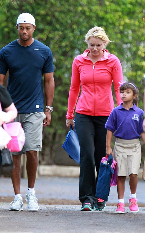 Tiger Woods and Lindsey Vonn - School Duty Duo