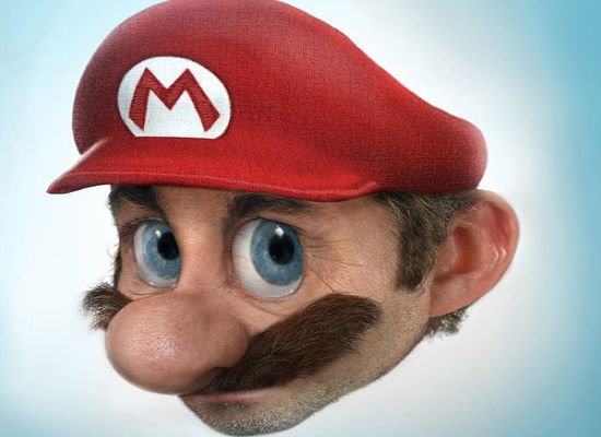 Realistic Drawings Super Mario Funny Faxo