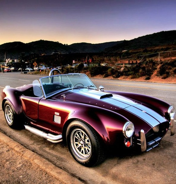 Shelby Cobra In Cherry Red Two Seater Muscle Car Great