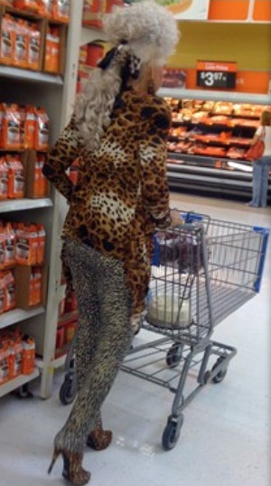 Cougar On The Prowl At Walmart - Granny Goes Shopping In -4781