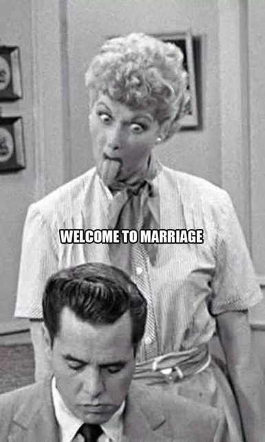 Welcome To Marriage - I Love Lucy Sticks Her Tongue At -7184