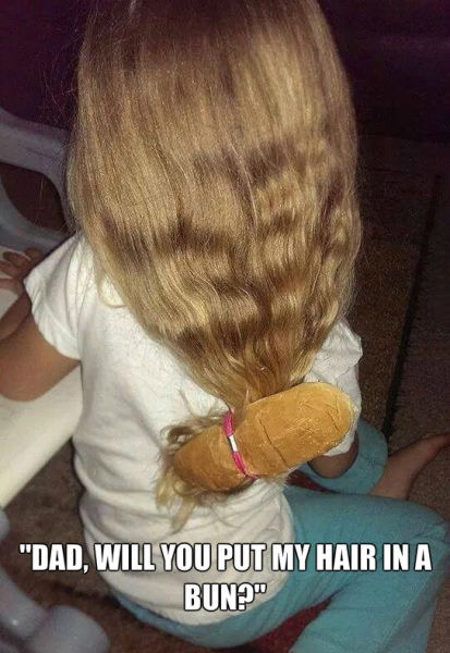 When Dad Takes Care of the Kids: Dad Will You Put My Hair ...