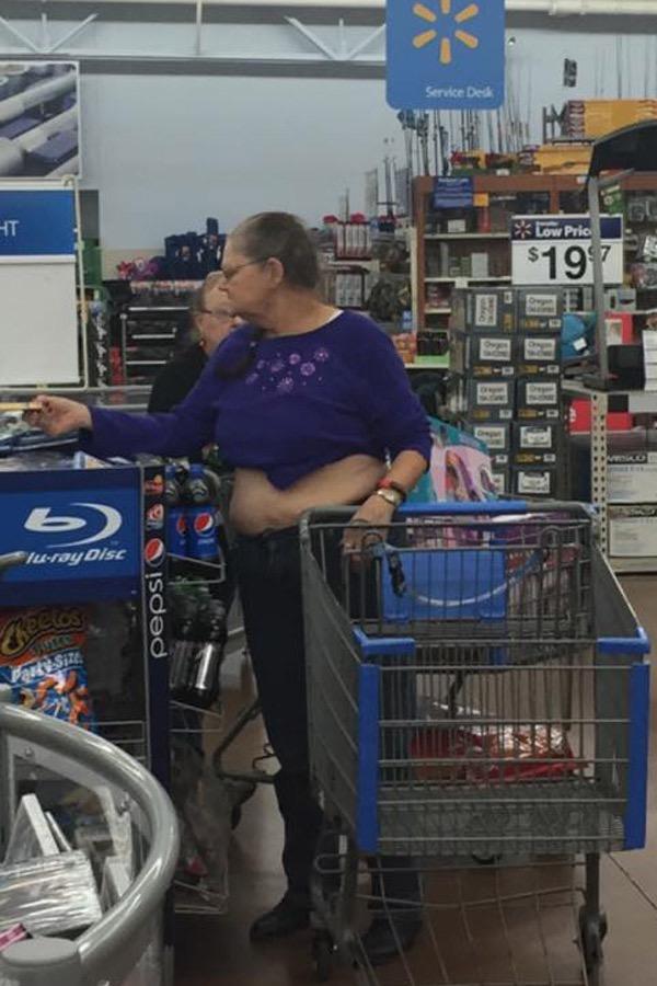 Midriff Tops At Walmart Granny Belly Fail - Walmart - Faxo-9140