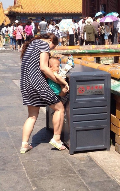 Forget Diapers Teach Your Child to Poop in Trash Can WTF