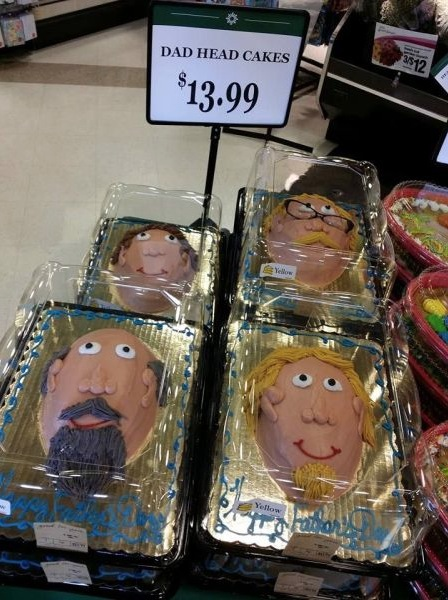 Crafts For Dad: Happy Father's Day Dad Head Cakes At Walmart Bakery