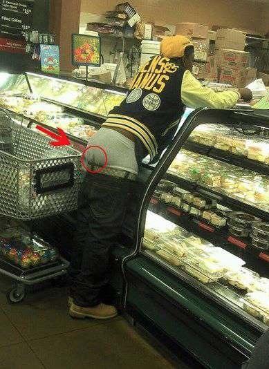 Gangsta Sagging Poop Stain - Dirty Underwear At Walmart -7762