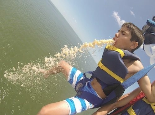 Most Fun You Can Have At The Beach Parasailing Puke