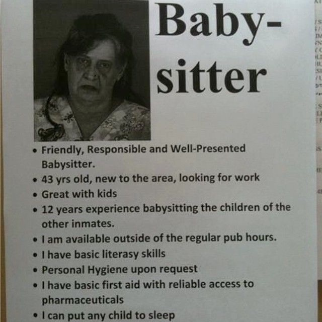 Scary Ad for Babysitter Services Epic Fail Funny Faxo