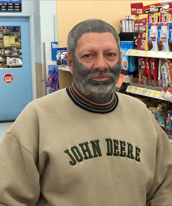 John Deere Lawn Products and Bad Wolfman Face Tattoos at Walmart ...