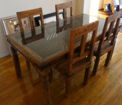 Amazing Moroccan Style Glas Dinning Table WWith Chairs   Classified Ad    New York, NY   Faxo