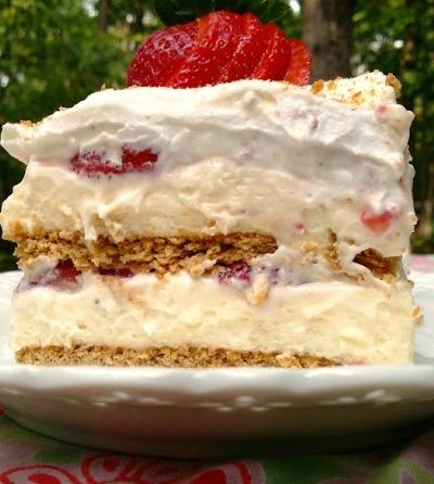 Cream Cheese Graham Cracker Strawberry Icebox Cake